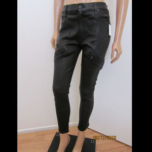 HUDSON Catalyst Slouchy Skinny Leather Jeans Pants